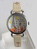 preiswerte Modische Uhren-Damen Armbanduhr Quartz Armbanduhren für den Alltag / PU Band Analog Freizeit Modisch Weiß - Weiß Ein Jahr Batterielebensdauer / Tianqiu 377