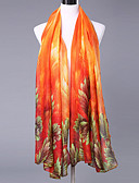abordables Bufandas de Raso Chics-Mujer Estampado, Algodón / Poliéster Rectángulo - Fiesta Floral