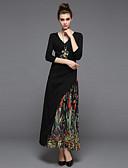 cheap Women's Dresses-ZIYI Women's Sheath Dress Print Maxi V Neck