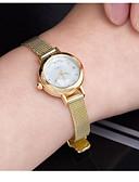 levne Bikini a plavky-Dámské Sportovní hodinky Křemenný 30 m / Pravá kůže Kapela Analog - Digitál Vintage Stříbro / Zlatá - Zlatá Stříbrná / Nerez