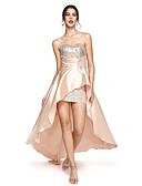 ieftine Rochii Cocktail-Coloană / Teacă In Formă de Inimă Asimetric Satin Bal / Seară Formală Rochie cu Paiete de TS Couture®