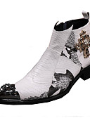 ieftine Bolerouri de Nuntă-Bărbați Pantofi Piele Toamnă / Iarnă Confortabili / Noutăți / Cizme la Modă Cizme Plimbare Alb / Nuntă / Party & Seară / Pantofi de piele