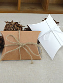 billige Gaveesker-Rund Kvadrat Pute Kort Papir Gaveholder med Bånd Printer Favoritt Esker