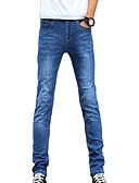 abordables Pantalones y Shorts de Hombre-Hombre Algodón Delgado Vaqueros Pantalones - Un Color