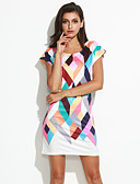 cheap Women's Dresses-Women's Going out Street chic Sheath Dress - Color Block Print / Slim
