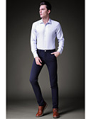 זול מכנסיים ושורטים לגברים-מכנסיים - סגנון מודרני, צבע אחיד מכנסיים בגדי ריקוד גברים