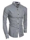 abordables Relojes de Vestir-Hombre Algodón Camisa Un Color