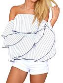 رخيصةأون فساتين للنساء-للمرأة قميص سادة دون الكتف