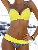 cheap Women's Swimwear & Bikinis-Women's Solid Bandeau Bikini Swimwear Orange Yellow Red Pink