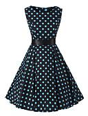 זול שמלות נשים-עד הברך מנוקד - שמלה סווינג כותנה וינטאג' בגדי ריקוד נשים