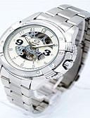 cheap Quartz Watches-Men's Fashion Watch Alloy Band Casual Silver