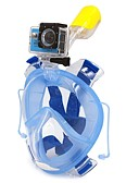 tanie Zegarki mechaniczne-WINMAX Maski do nurkowania / Maska do snorkelingu Anti-Fog, Maska pełnotwarzowa, Podwodny Pojedyncza szyba - Pływacki, Nurkowanie Silikonowy, Plastikowy, PVC - dla Doroślu Czarny / Niebieski / Różowy