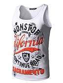 cheap Men's Tees & Tank Tops-Men's Sports Active Slim Tank Top - Letter Print Round Neck / Sleeveless