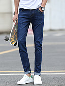 ieftine Pantaloni Bărbați si Pantaloni Scurți-Bărbați Clasic & Fără Vârstă Skinny Pantaloni Culoare solidă