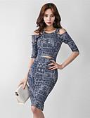 preiswerte Damen Kleider-Damen Schick & Modern Bodycon Kleid - Herz Stil Schmetterling Stil Moderner Stil, Andere Knielang
