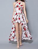 cheap Women's Dresses-Women's Beach Loose Dress - Floral, Backless Split Maxi Off Shoulder