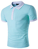 ieftine Maieu & Tricouri Bărbați-Bărbați Guler Cămașă Polo Geometric