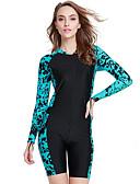 Χαμηλού Κόστους One-piece swimsuits-SBART Γυναικεία Dive κοστούμι του δέρματος SPF50 Προστασία από τον ήλιο UV Γρήγορο Στέγνωμα Chinlon Ελαστίνη Λίκρα Μακρυμάνικο Μαγιό Ρούχα παραλίας Στολές κατάδυσης Κλασσικά / Ελαστικό