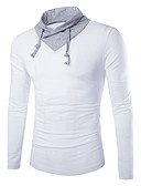 cheap Men's Hoodies & Sweatshirts-Men's Cotton T-shirt - Houndstooth V Neck
