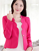 cheap Women's Blazers & Jackets-Women's Work Blazer - Solid Color, Print V Neck