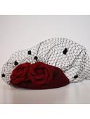 cheap Wedding Veils-Flannelette / Net Fascinators / Birdcage Veils with 1 Wedding / Special Occasion / Outdoor Headpiece