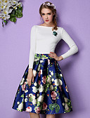 cheap Women's Skirts-Women's Going out Street chic Skirt Skirts - Floral, Print