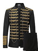 cheap Historical & Vintage Costumes-Prince Cosplay Costume Blazer Jacket & Pants Tuxedo Suits & Blazers Men's Rococo Medieval 18th Century Napoleon Jacket Party Prom Halloween Carnival Festival / Holiday Lace Black / Red Carnival