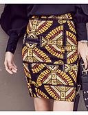 preiswerte Damen Röcke-Damen Übergrössen A-Linie Röcke Druck