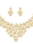 abordables Joyas de Moda-Mujer Conjunto de joyas Brillante, Chapado en Oro Flor damas, Clásico, Moda Incluir Dorado Para Boda Fiesta Ocasión especial Cumpleaños Regalo