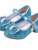 preiswerte Abendkleider-Mädchen Schuhe PU Frühling Sommer Pumps High Heels Kristall / Schleife für Silber / Blau