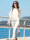 preiswerte Damen zweiteilige Anzüge-Damen Arbeit Bluse - Solide Hose