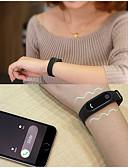 baratos Pulseiras Smart & Monitores Fitness-Casal Relógio Casual Relógio Esportivo Relógio de Moda 30 m Impermeável Monitor de Batimento Cardíaco Alarme Silicone Banda Digital Amuleto Casual Rígida Preta / Azul / Vermelho - Fúcsia Vermelho