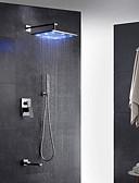 cheap Men's Shirts-Shower Faucet - Contemporary Art Deco / Retro Modern Chrome Wall Mounted Brass Valve