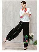זול מכנסיים לנשים-בגדי ריקוד נשים בוהו רגל רחבה / צ'ינו מכנסיים דפוס / ליציאה