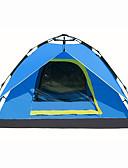 ieftine Paltoane Trench Femei-3-4 persoane În aer liber Cort de Backpacking Impermeabil Uscare rapidă Respirabilitate Automat Dom O cameră Dublu Stratificat 2000-3000 mm Cort de campare pentru Drumeție Camping Exterior Oxford
