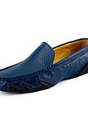 baratos Camisetas & Regatas Masculinas-Homens Loafers de conforto Pele Primavera / Verão Conforto / Sapatos de mergulho Mocassins e Slip-Ons Preto / Marron / Azul