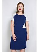 baratos Vestidos Femininos-Mulheres Tamanhos Grandes Moda de Rua Tubinho Reto Túnicas Vestido Estampa Colorida Médio