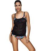 cheap Women's Swimwear & Bikinis-Women's Boho Tankini - Striped