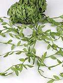 povoljno Odijela-20meter svilenih listova u obliku umjetnog zelenog lišća za vjenčanje ukras DIY vijenac dar scrapbooking obrt lažni cvijet