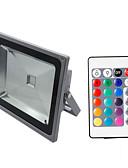 baratos Roupas de Mergulho & Camisas de Proteção-HKV 50W Focos de LED Ajustável / Instalação Fácil / Impermeável RGB 85-265V Dispensa / Garagem / Iluminação Externa