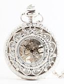 cheap Mechanical Watches-Women's Pocket Watch Japanese Quartz Hollow Engraving Alloy Band Analog Vintage White - White