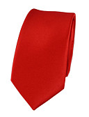 cheap Men's Ties & Bow Ties-Men's Cute Party Work Polyester Necktie - Solid Colored