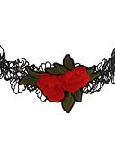 tanie Sukienki-Damskie Logo Naszyjniki choker - Kwiat Duże, Unikalny Ręcznie wykonane, Noszenie na wiele sposobów Czerwony Naszyjniki Biżuteria Na Impreza, Rocznica, Oblanie nowego mieszkania