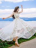olcso Maxi ruhák-Női Divatos és modern Swing Ruha - Modern stílus, Virágos Maxi