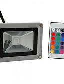 preiswerte Sportuhr-HKV 10W LED Flutlichter Verstellbar Leicht zu installieren Wasserfest Außenbeleuchtung Garage / Carport Abstellraum / Wirtschaftsraum RGB
