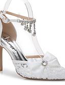 preiswerte Damen Kleider-Damen Schuhe Seide / maßgeschneiderte Werkstoffe Sommer / Herbst D'Orsay und Zweiteiler Sandalen Stöckelabsatz Spitze Zehe Strass /