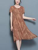 baratos Vestidos de Mulher-Mulheres Tamanhos Grandes Solto Vestido - Estampado