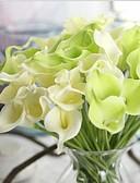 billige Bryllupskjoler-10 Gren Ekte Touch Calla-lilje Bordblomst Kunstige blomster