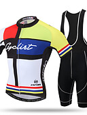 olcso Sportos óra-XINTOWN Férfi Rövid ujjú Kerékpáros dzsörzé kantáros nadrággal - Nárcisz Bike Bib Tights Dzsörzé, Gyors szárítás, Ultraibolya biztos,