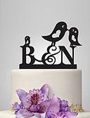 baratos Vestidos de Mulher-Decorações de Bolo Tema Jardim / Tema Clássico / Tema Fadas Monograma Acrílico Casamento / Aniversário / Chá de Cozinha com PPO